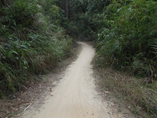 That awkward moment when the road becomes a dusty single-track, in the middle of nowhere.