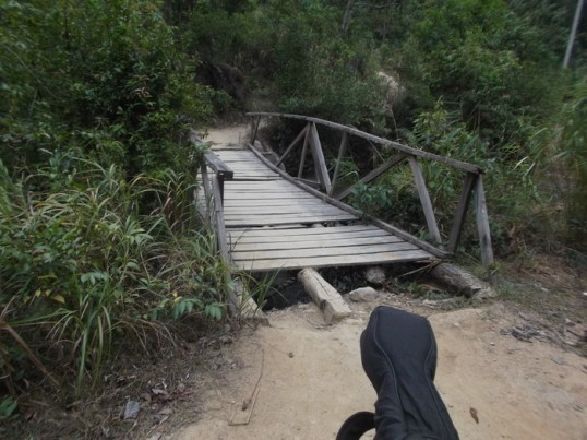 Had to stop a moment and take a picture of the decaying bridge after I managed to cross it without falling through it.
