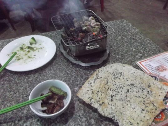 Tableside bbq in Buon Ma Thuot  kinda made it all worthwhile.
