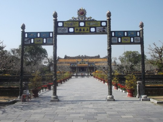 The former Imperial Palace, Hue.