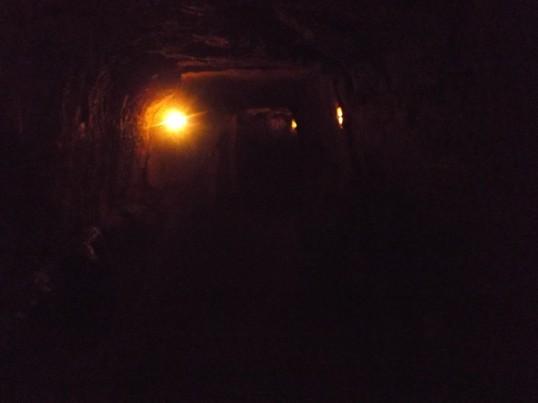In the Vinh Moc tunnels.  Strange, Impressive, and creepy.