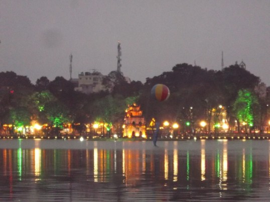 Central Hanoi's lakefront.