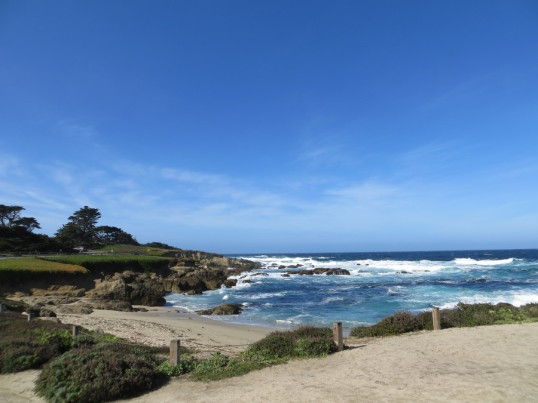 The elegant Monterey coastline.